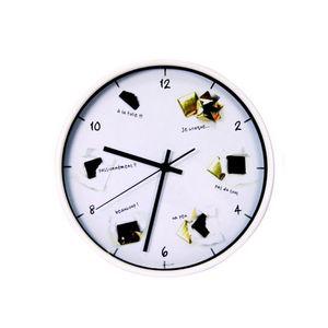 WHITE LABEL - horloge gourmande chocolats - Pendelwanduhr