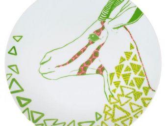 La Chaise Longue - coffret de 6 assiettes a diner savannah - Flache Teller