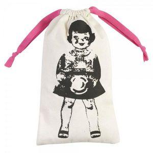 La Chaise Longue - pochette à linge paper dolls rose - Wäschebeutel