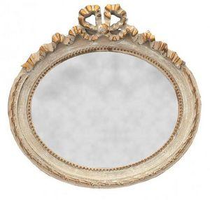 Demeure et Jardin - glace ovale style louis xvi horizontale - Spiegel