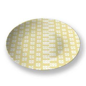 la Magie dans l'Image - assiette lotus jaune blanc - Präsentierteller