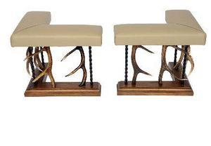 Clock House Furniture - antler club fender - Kaminbank