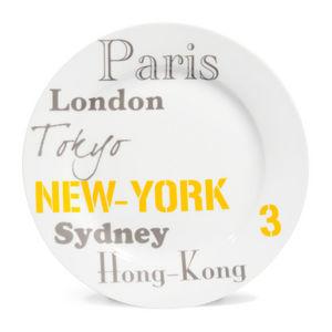 Maisons du monde - nyc cities - Flache Teller