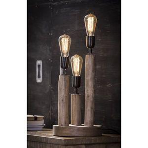 Mathi Design - lampe en bois eucalyptus - Tischlampen