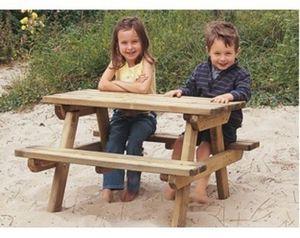 DECO-BOIS.COM - table enfants garden - Gartentisch Kindern