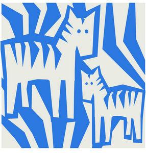 GRAVITI ZONE RUGS - cebras - Kinderteppich