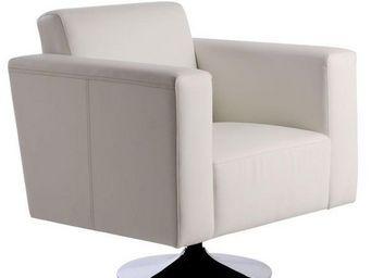 Miliboo - sillón boston de color blanco-giratorio - Sessel