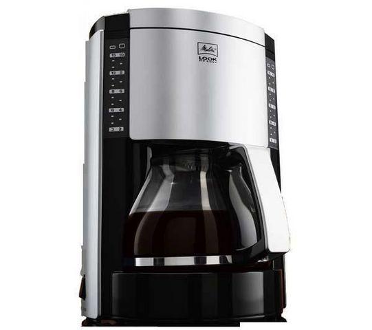 Melitta - Filterkaffeemaschine-Melitta-Cafetire Look Deluxe III noir/argent M652-020304