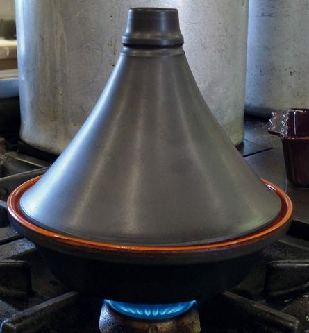 DM CREATION - Tajinetopf-DM CREATION-Tajine traditionnel noir mat en terre cuite 27cm