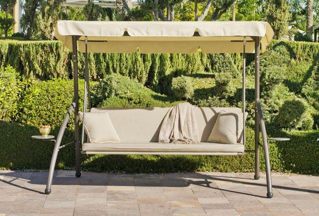 HEVEA - Hollywoodschaukel-HEVEA-Balancelle canada en acier et toile acrylique 180x