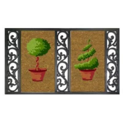 ILIAS - Fussmatte-ILIAS-Paillasson Twin tray jardin
