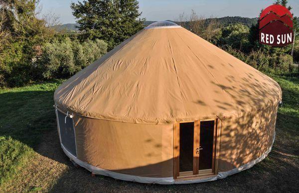 Yurta Red Sun - Jurte-Yurta Red Sun-yurta moderna 10 metri diametro