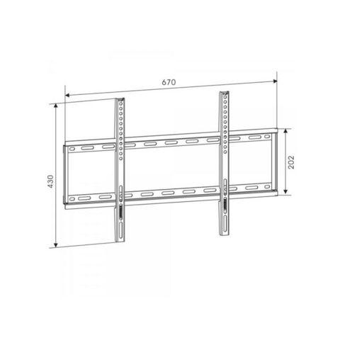 WHITE LABEL - TV-Halter-WHITE LABEL-Support mural TV fixe ultra plat max 55