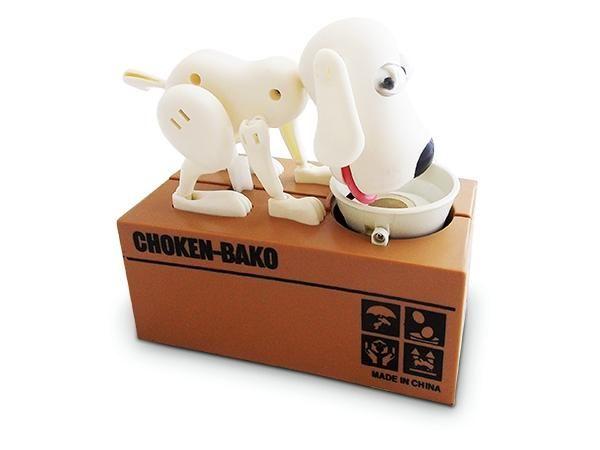 WHITE LABEL - Spardose-WHITE LABEL-Tirelire originale en forme de chien mangeur de pi