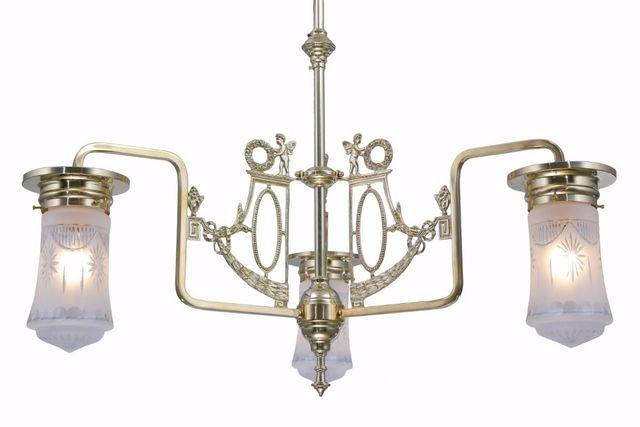 PATINAS - Kronleuchter-PATINAS-Venice 3 armed chandelier I.