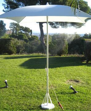 CLIC & COOL BRUMISATION - Sonnenschirm mit Zerstäuber-CLIC & COOL BRUMISATION