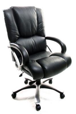 Miliboo - Bürosessel-Miliboo-TITUS fauteuil de bureau cuir noir