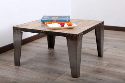 Miliboo - Couchtisch quadratisch-Miliboo-INDUSTRIA TABLE BASSE