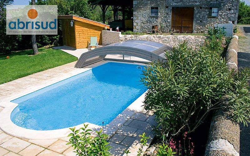 Abrisud Cobertizo de piscina rodable o telescópico Cabinas de piscina Piscina y Spa Jardín-Piscina | Design Contemporáneo