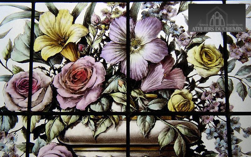 Ateliers Duchemin Vidriera Vidrieras Ornamentos Entrada | Rústico