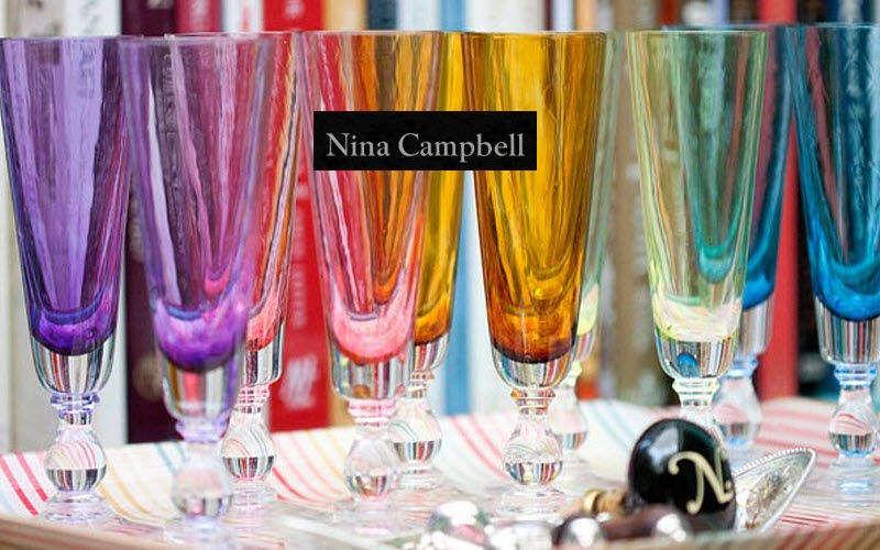 Nina Campbell Flauta de champán Vasos Cristalería   