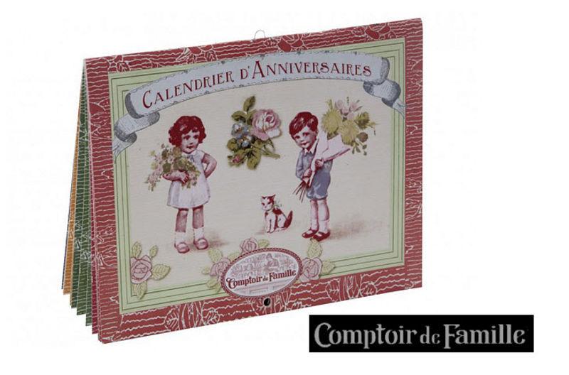 Comptoir De Famille Calendario Papelería Papelería - Accesorios de oficina Cocina | Rústico