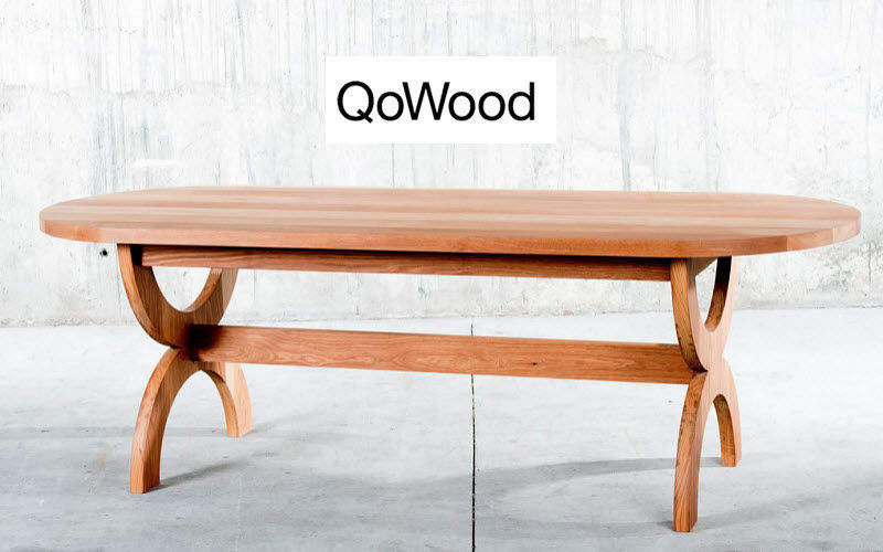 QOWOOD Mesa de comedor ovalada Mesas de comedor & cocina Mesas & diverso  |