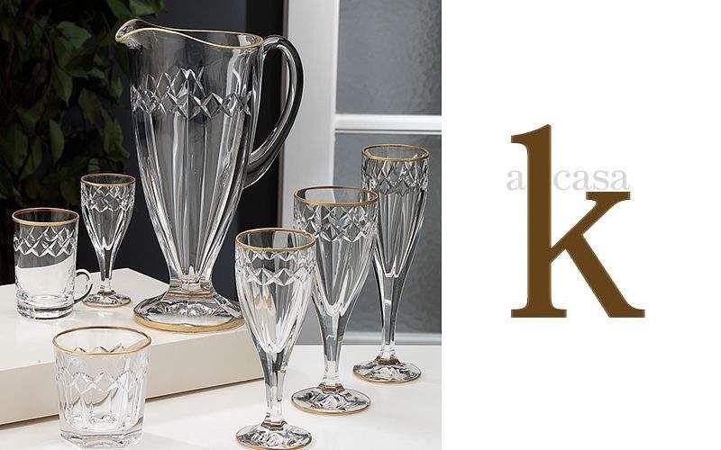 A Casa K Servicio de vasos Juegos de cristal (copas & vasos) Cristalería  |