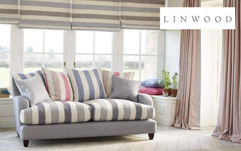 LINWOOD Tela de rayas Telas decorativas Tejidos Cortinas Pasamanería Salón-Bar |