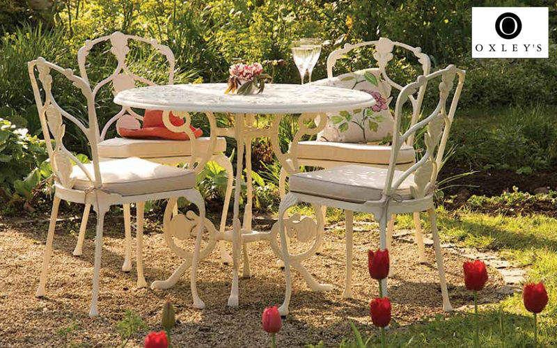 Oxley's Mesa de jardín redonda Mesas de jardín Jardín Mobiliario  |