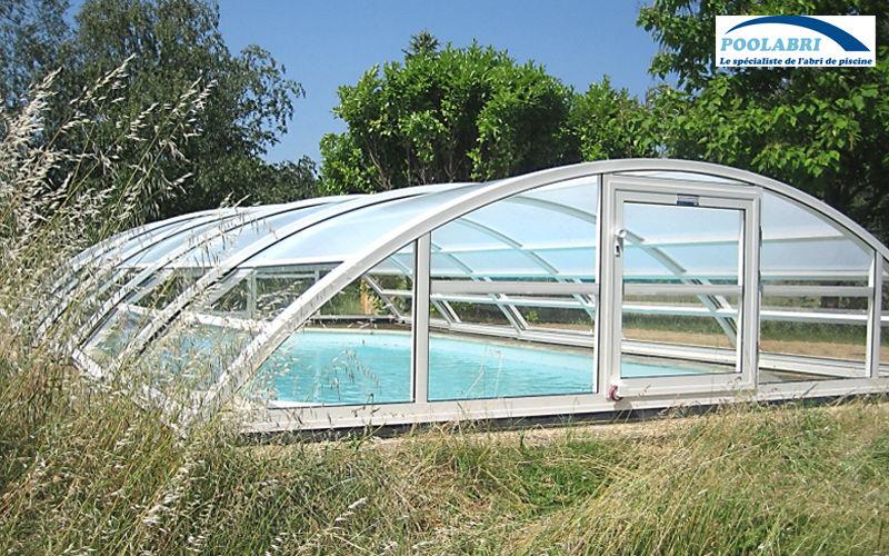 Abri piscine POOLABRI Cubierta de piscina alta corredera o telescópica Cabinas de piscina Piscina y Spa  |