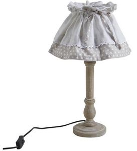Aubry-Gaspard - lampe bois et metal - Lámpara De Sobremesa