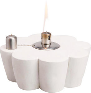 Amadeus - lampe à huile fleur en ciment - Linterna De Exterior