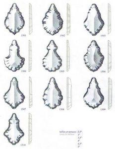 Falbala Candelero con cristales colgantes