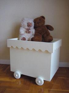 Gris Alba Decoracion Baúl para juguetes