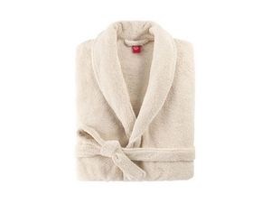 BLANC CERISE - peignoir col châle - coton peigné 450 g/m² ficell - Albornoz