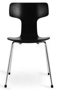 Arne Jacobsen - chaise 3103 arne jacobsen noire lot de 4 - Silla