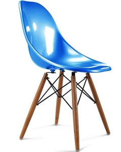 Charles & Ray Eames - chaise bleu design eiffel sw charles eames lot de  - Silla De Recepción