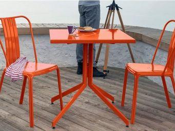 PROLOISIRS - ensemble urban 1 table 2 chaises en aluminium oran - Mesa De Jardín
