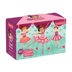 BERTOY - 100 pc glitter puzzle ballerinas - Rompecabezas Niño
