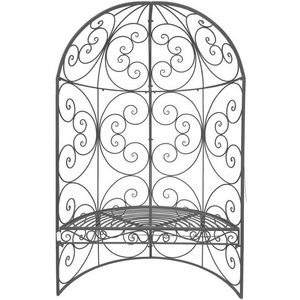 CHEMIN DE CAMPAGNE - banc arche demi-lune de jardin en fer 185 cm - Banco De Jardín