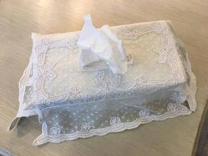 Coquecigrues - boite mouchoirs houpette - Caja De Pañuelos