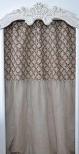 Coquecigrues - rideau rose treillage - Cortina Confeccionada