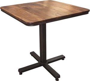 Antic Line Creations - table bistrot en bois et métal - Mesa De Bar