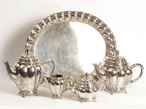 ANTIQUES LACARTA DECORACIÓN - coffee set of silver s. xix - Servicio De Café