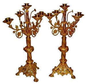 Antiquités SANT VICENS - chandeliers - Candelabro