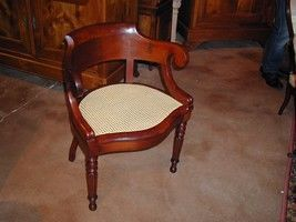 Au Mobilier Vendéen - fauteuil de bureau louis philippe - Sillón De Escritorio