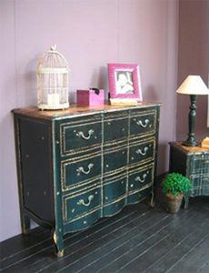 BLEU PROVENCE - vintage black - Mueble De Cajones
