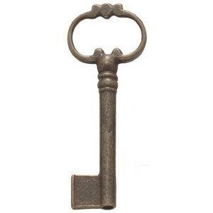 FERRURES ET PATINES - clef en fonte vieilli style louis xiv - Llave De Mueble