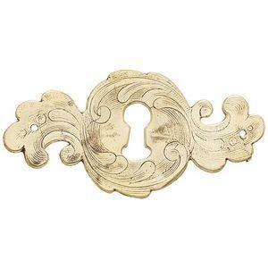 FERRURES ET PATINES - entree de tiroir en bronze grave style louis xiv - - Chapa De Cerradura Para Cajón